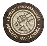 Hellboy Research & Defense Brown Logo Embroidered 3' Tall Iron on Patch