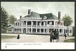 Casino at Roger Williams Park Providence RI undivided back postcard 1900s