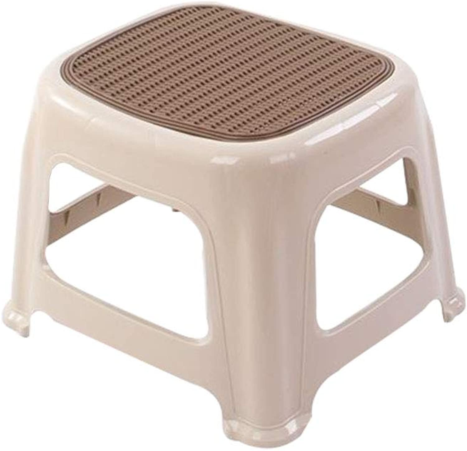 AGL-Bathroom Stools Dining Stool Stacked Save Space Bathroom Non-Slip High Stool Small Stool 3 Sizes 3 colors (color   C, Size   29X32X39cm)