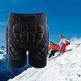 Irfora Pantalones protectores para snowboard, pantalones de protección 3D, pantalones cortos para esquí, snowboard, patinaje sobre hielo, protección contra impactos, talla L