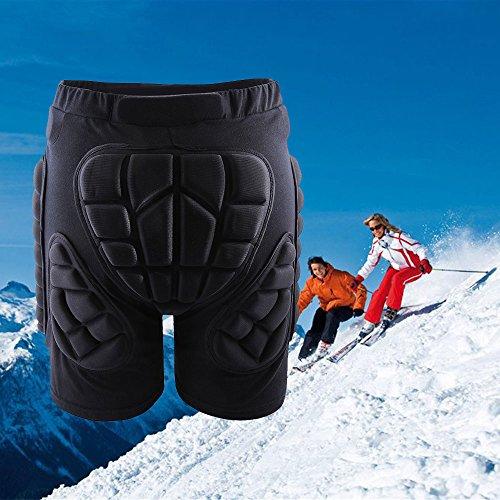 Irfora Snowboard Protektorenhose Schutzhos Schützende 3D Hip Pad Shorts Skifahren Snowboard Eislaufen Aufprallschutz L