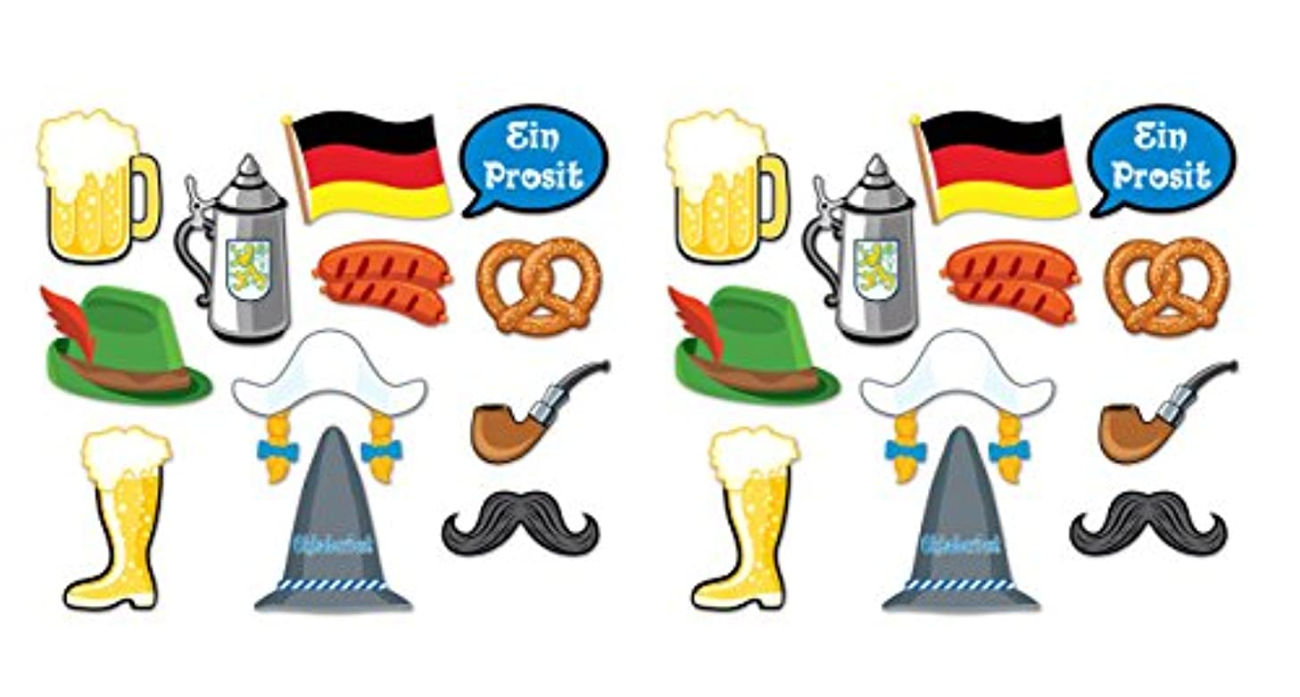 Beistle 59872 24 Pieces Oktoberfest Photo Fun Sign, 6.5