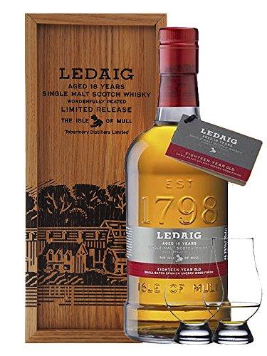 Ledaig 18 Jahre Single Malt Whisky 0,7 Liter + 2 Glencairn Gläser