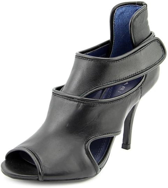 Tahari Lalla Women US 7.5 Black Peep Toe Heels