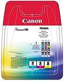 Canon CLI-8 Cartouche C/M/Y Multipack Cyan, Magenta, Jaune
