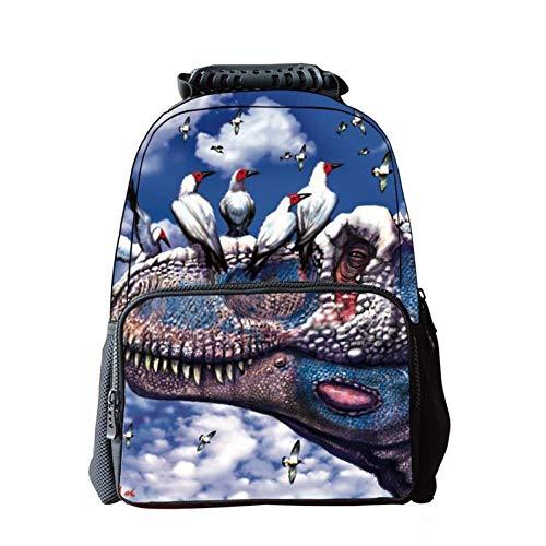 Jejhmy Creatieve Persoonlijkheid 3D Dinosaurussen en Vogels 40x28x16cm Reizen Mode Casual Outdoor Creatieve Rugzak afdrukken