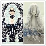 Jwyq Film X-men Storm femmes argent blanc perruque Ororo Munroe Cosplay perruques Costumes avec filet à cheveux fress