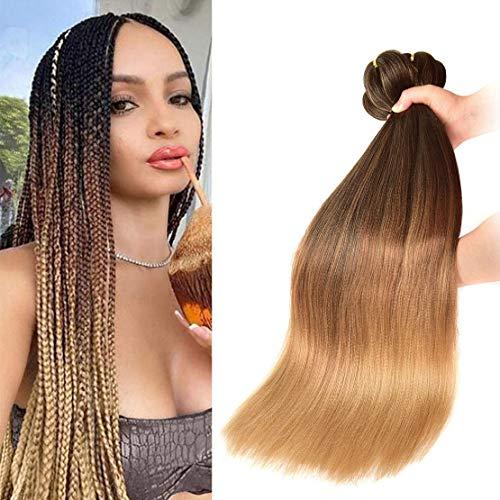 Pre-Stretched Braiding Hair 22 inch 6 packs Hot Water Setting Synthetic Hair Crochet Braiding Hair Extension (1B/30/27)