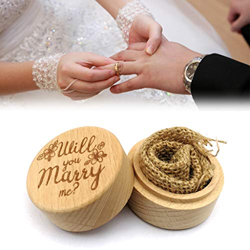 Caja de anillos de madera para decoración de Pascua para boda, anillo de almacenamiento, organizador de anillos de boda, accesorio de fiesta (C)