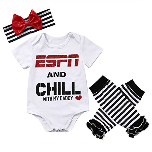 Baby Girls ESPN and Chill with My, Espn and Chill With My Daddy, Size 6-9 Months