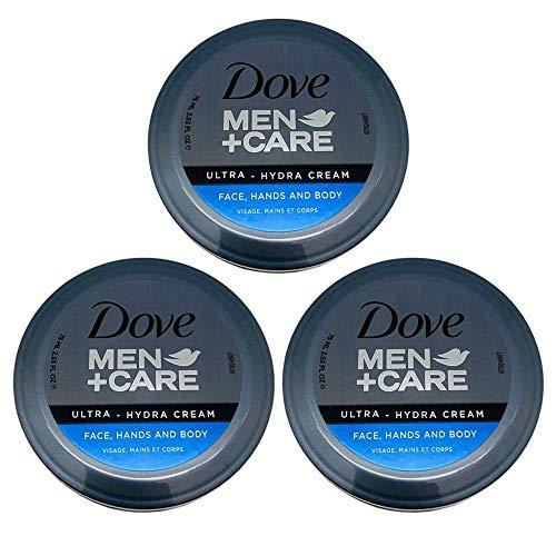 Dove Men+Care Ultra-Hydra Cream with 24 Hour Moisturization, 2.53 Fl Oz (Pack of 3)