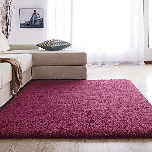 Europese moderne pluizige rechthoekige tapijt woonkamer slaapkamer balkon wit roze grijs antislip polyester tapijt 140 cm * 200 cm, YG2-8,1200MMx2000MM