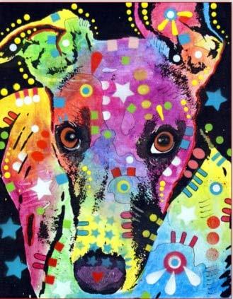 Color perro serie número de pintura diy pintura al óleo por números kit pintura lienzo pintura por números para niños adultos arte pintura A2 45x60cm
