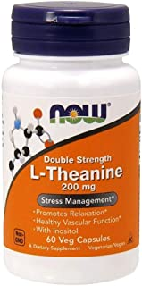 NOW Foods - L-Theanine Suntheanine 200 mg. - 60 Vegetarian Capsules