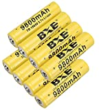 Best 18650 Batteries - Rechargeable Battery(Button Top),8 Pack 9800mAh 3.7V Li-ion 18650 Review