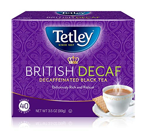 Tetley British Blend Premium Black Tea, Decaffeinated, 40 Tea Bags (Pack of 6)