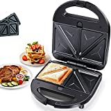 Waffle Maker, Máquina De Hacer Gofres, Maquina De Gofres, Antiadherente, 750 W, Patas De Goma Antideslizantes, Para Sándwiches Tostados Grandes Y Rellenos