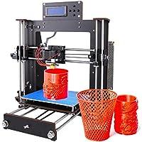 Impresora 3D, GUCOCO Mejorar Prusa I3 Pantalla LCD de bricolaje Auto-ensamblaje de Kit de impresoras 3D de escritorio con filamento ABS/PLA de 1.75 mm