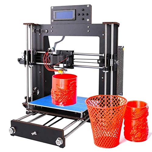 3D Printer, GUCOCO Upgrade Prusa I3 DIY LCD Screen Self-Assembly Desktop 3D Printer Kit with 1.75mm ABS/PLA Filament