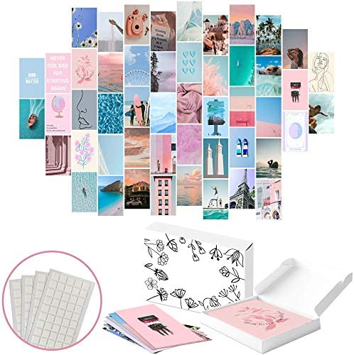 TOTZIE Aesthetic Wall Collage Kit Aesthetic Wall Decor Photo Collage Kit for Wall Aesthetic product image