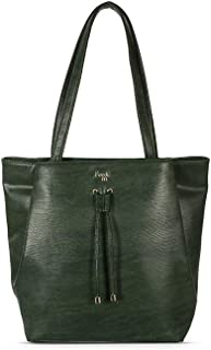 Baggit Women's Synthetic Tote Bag (Green) (L Kahlo Y G Z)