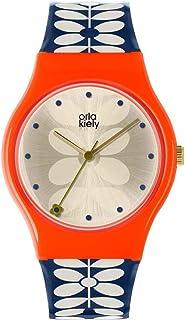 Orla Kiely unisex zegarek kwarcowy dla dorosłych, analogowy klasyczny wyświetlacz i plastikowy pasek OK2230, szampan