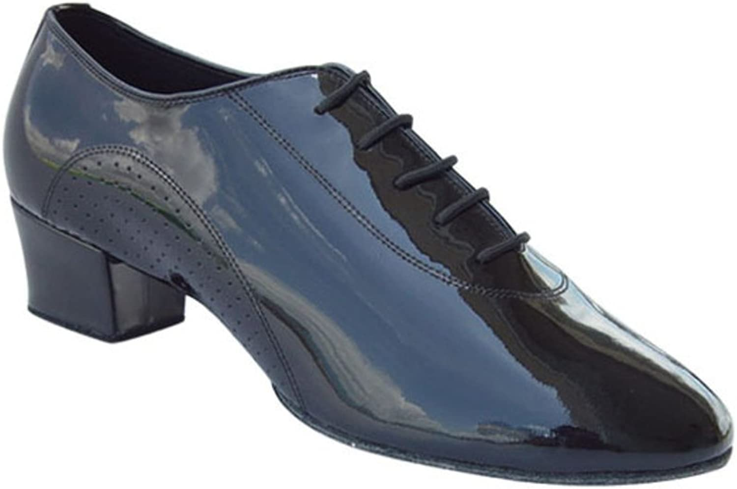 SPLNWTFHCNWPCB Men's Latin Dance shoes Soft Black Leather Dance shoes at The end of Adult Dance shoes