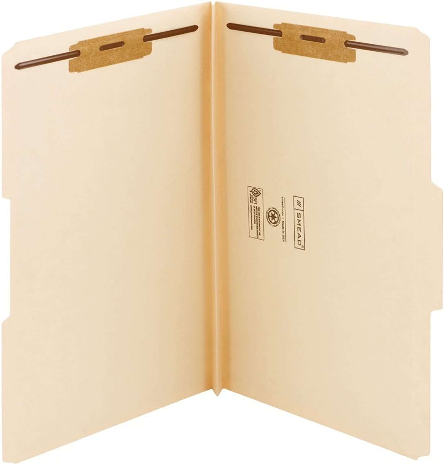 1 1 2 Inch Expansion Folders, Two Fasteners, 1 3 Top Tab, Legal, Manila, 50 Box