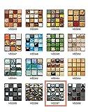 50 Piezas de Pegatinas de Azulejos Estilo Retro Mosaico Adhesivo Pegatinas Autoadhesivas Para Azulejos DIY Baño Cocina Pegatinas de Decoración Adhesivos de Pared (10*10CM*50Piezas, MSCO57)