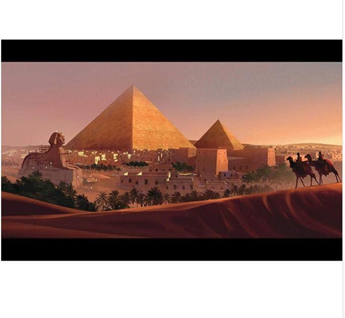 YSCOLOR Diamond Painting Diamant Rond 5D Diamant DIY Peinture Pharaon Egyptien 3D Rond Broderie Point De Croix Mosa/ïque Peinture D/écor 30X40Cm