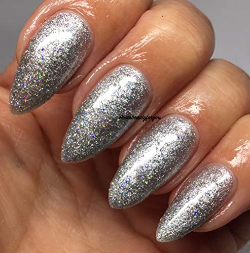 Bluesky Limited Edition UV/LED Soak Off Gel-nagellak, hologram zilver