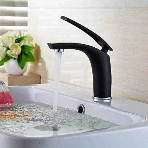 Gran oferta, grifos negros de latón, grifo de moda, mezclador de agua fría y caliente, grifo blanco, mezclador de baño