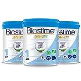 Biostime SN-2 Bio Plus Laits infantiles Bio 1er âge en poudre de 0 à 6 mois 800 g - Lot de 3