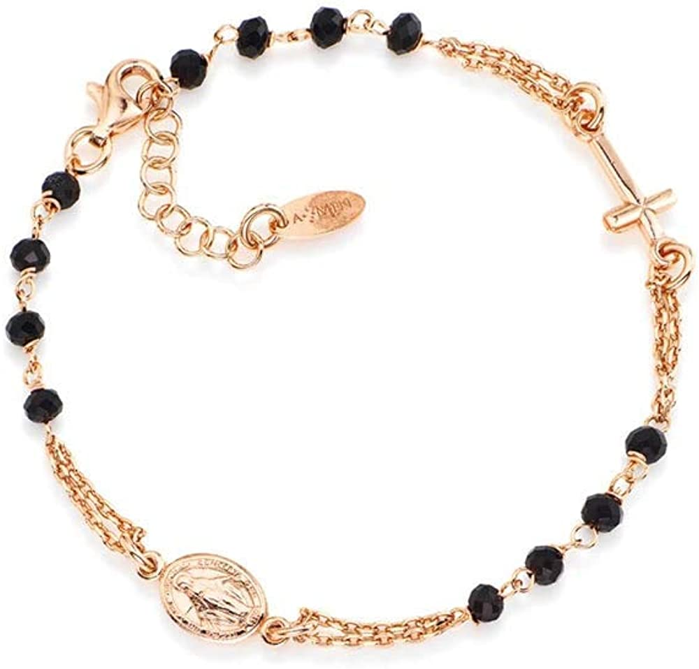 Amen, bracciale per donna, in argento 925 e cristalli 8054719000136