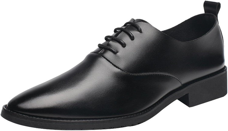 Lederschuhe Männer Low Top Schuhe Casual Matte PU Leder Loafers Lace up Breathable Spitz Toe Oxfords Schwarz  | Deutschland Berlin