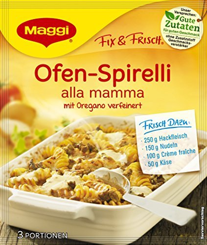 Maggi Fix Pasta Ofen Spirelli Alla Mamma, 36er Pack (36 x 43 g)