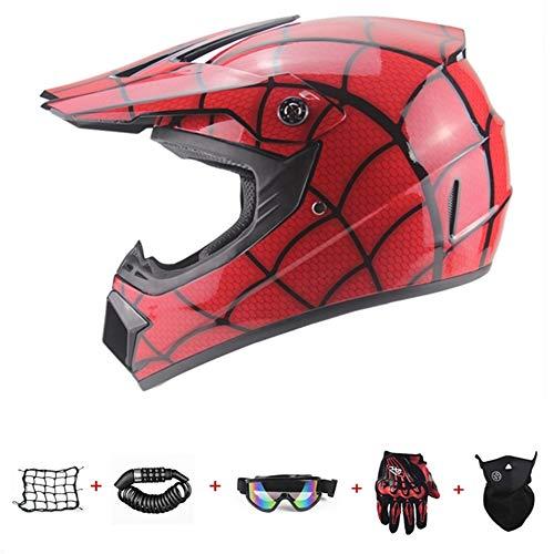 YLWZZ Casco de moto Offroad para niños Offroad, casco integral para bicicleta...