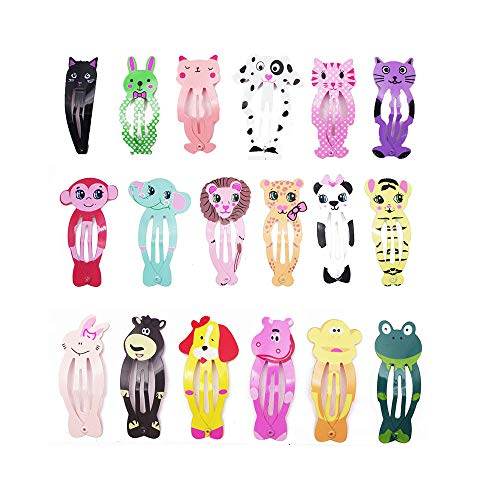 Kitchen-dream 18 PCS Fashion Animal Hairpin Kids Pinzas para