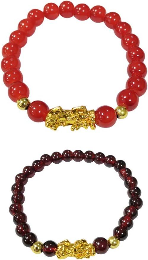 2 Pcs Feng Shui Good Luck Wealth Prospe for Bracelets In Surprise price stock Women Men