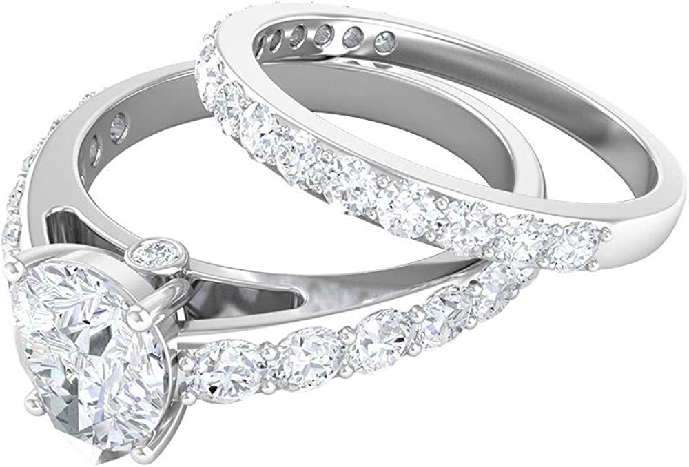 Bridal Wedding Rings Engagement Special price cheap Set 6x8 M D-VSSI 2.52 CT