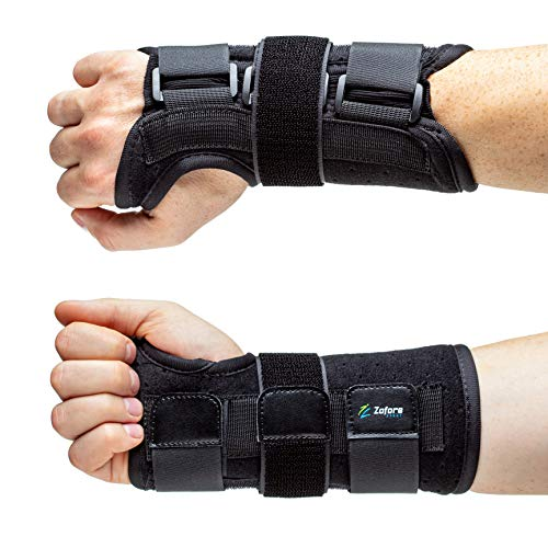 Carpal Tunnel Wrist Brace Support with Metal Splint Stabilizer by Zofore - Helps Relieve Tendinitis Arthritis Carpal Tunnel Pain - Reduces Recovery Time for Men Women- Right (L/XL)