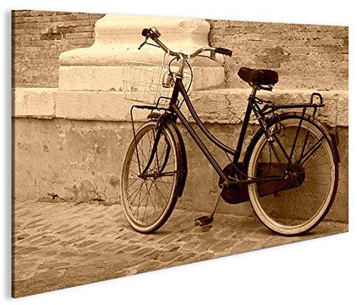 Preisvergleich Produktbild islandburner Bild Bilder auf Leinwand Hollandrad Sepia Retro Altes Fahrrad 1p XXL Poster Leinwandbild Wandbild Dekoartikel Wohnzimmer Marke islandburner