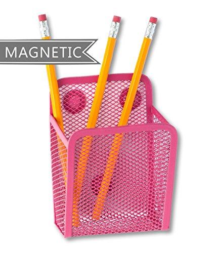 Jennakate- Magnetic Pen Holder - Liquid Chalk Holder- Family Command Center - Magnetic Message Board - Hot Pink