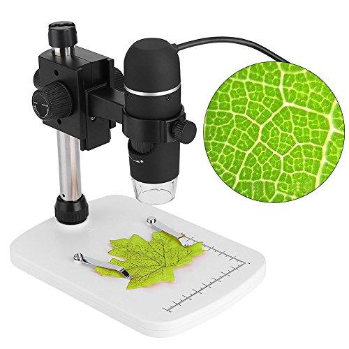 Digitales USB-Mikroskop, tragbares wiederaufladbares LCD-Mikroskop 2592 x 1944p HD-Kamera mit 20- bis 300-facher Vergrößerung, 8 einstellbare LED-Lichtquellen und 5 MP Foto-/Videoaufnahme