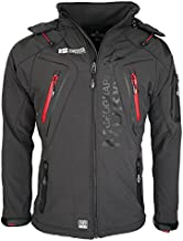 Geographical Norway Men's Softshell Function Outdoor Jacket Water Resistant, Grey - Dark Grey, Small