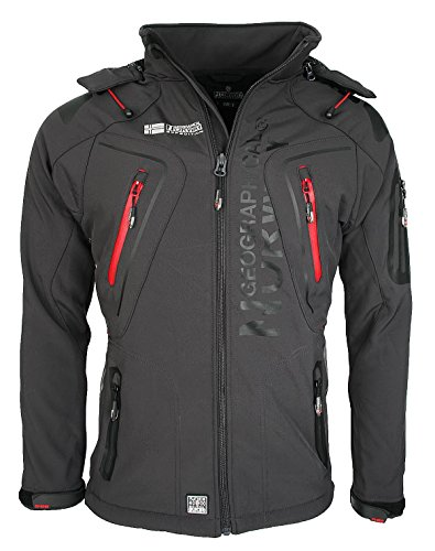 1G3 Geographical Norway Tambour Herren Softshell Jacke Outdoor Dunkelgrau L
