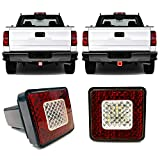 Roane Designs 3' LED Tow Hitch Cover Light - fits 2' inch Receiver Hitch, Driving, Brake, Reverse Trailer Hitch Light