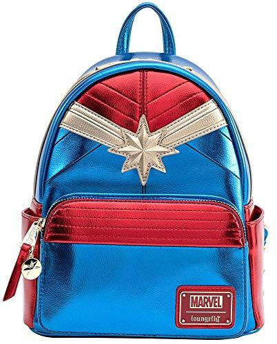 Captain Marvel Mvbk0118, Mochila para Mujer, Azul/Patchwork, One size