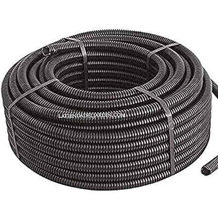Tubo traquea utilizado para proteger cables electrov/álvulas Tuberia corrugada con Certificado Aenor utilizada para conducci/ón de cables el/éctricos Suinga TUBO CORRUGADO 25MM 40 MTS