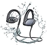Dailylux IPX8 Waterproof Bluetooth Earphone,8GB MP3 w/Mic HiFi Stereo Earbuds,Bluetooth V5.0 Wireless Sport Swimming Sweatproof Earbuds,Black